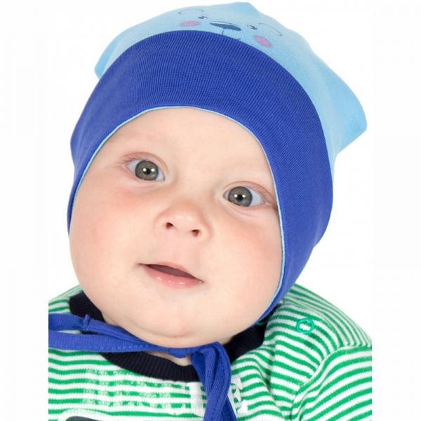 Шапка детская, голубой+электрик, Р1047-5376