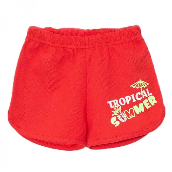 Шорты для девочки, Красный, SUMMER,2141-038