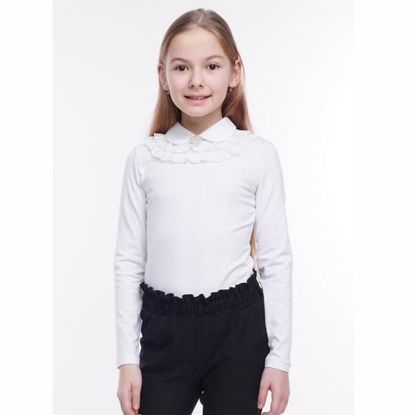 Джемпер для девочки, белый, 704679г