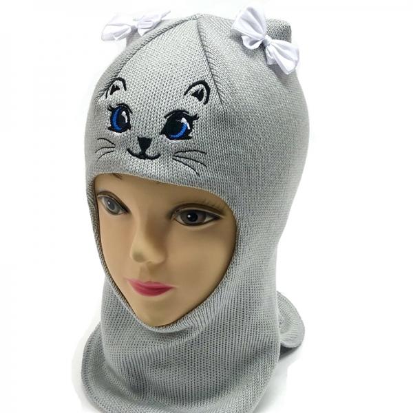 Шлем для девочки модель Алиса, серый