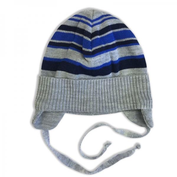 Шапка детская, серый-т.синий, 782198аш