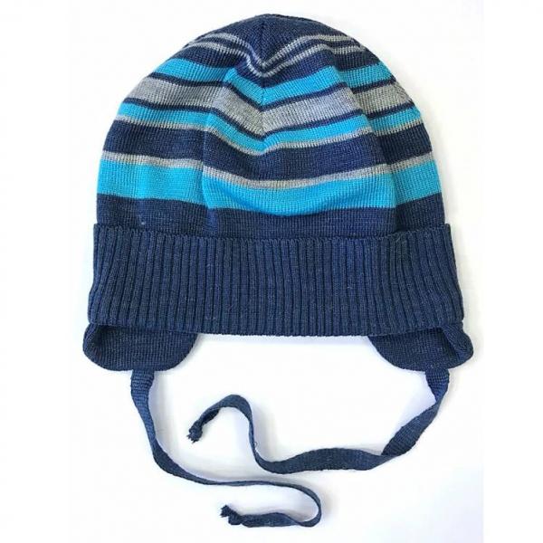 Шапка детская, синий-голубой, 782198аш