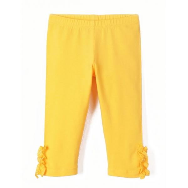 Бриджи для девочки, Желтый, CSKG 70033-30-271