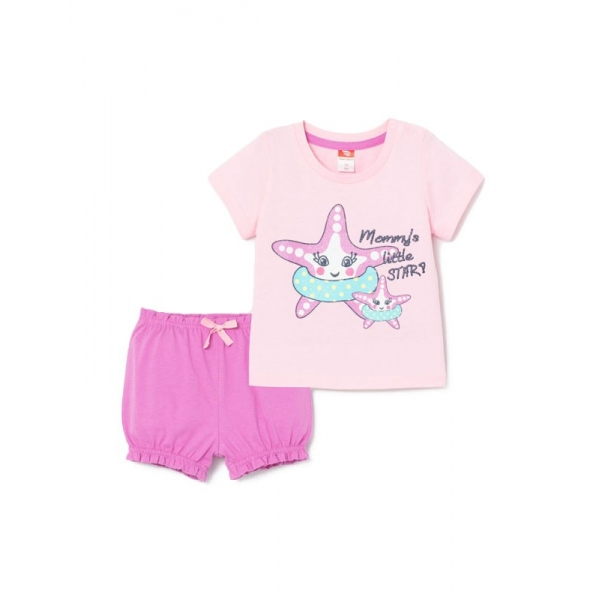 Комплект для девочки, Розовый, CSNG 90039-27-280