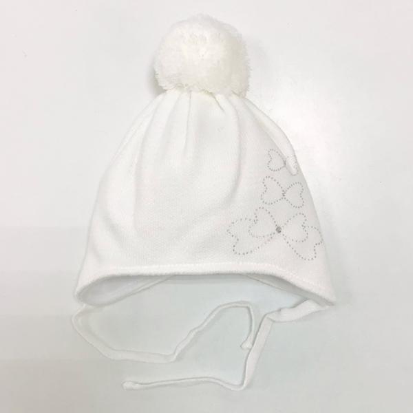 Шапка для девочки, белый, Арт. 927