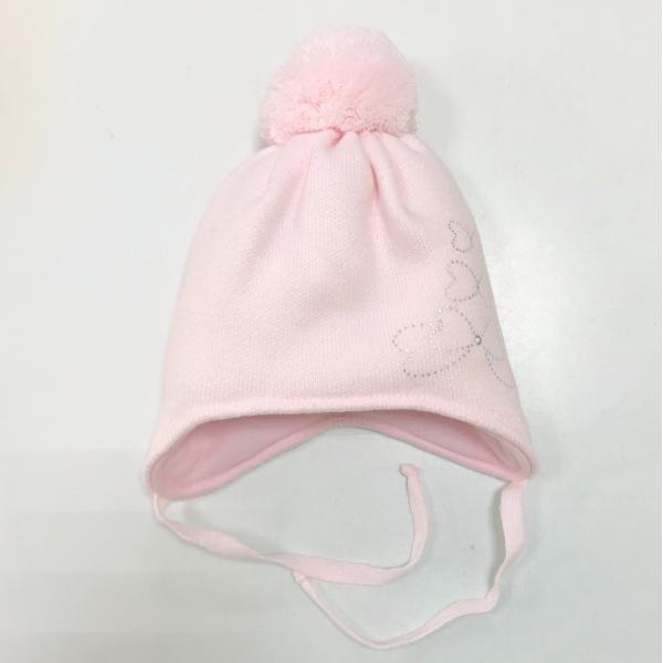 Шапка для девочки, розовый, Арт. 927