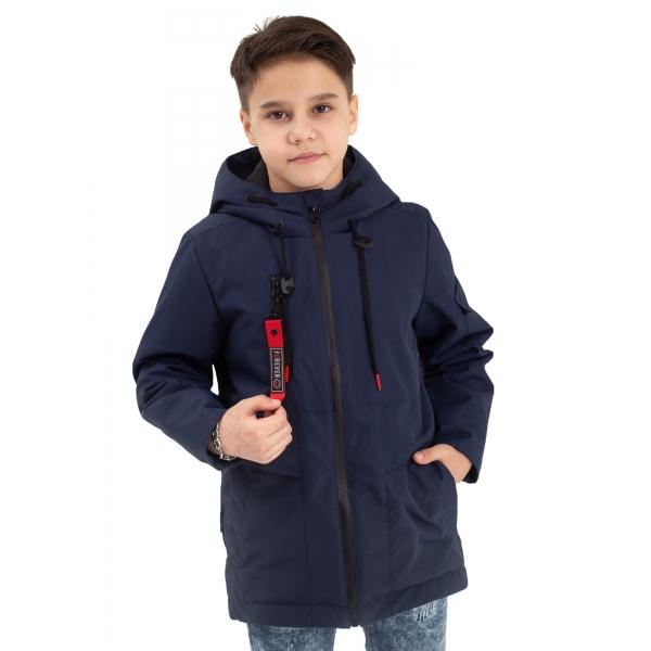 "405-21о-1 Куртка-парка для мальчика ""Роберт"" синий"