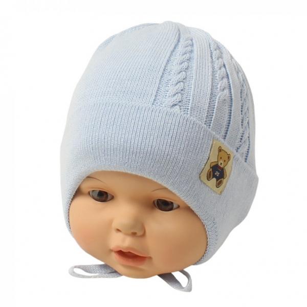 Шапка детская, голубой, Арт.21107