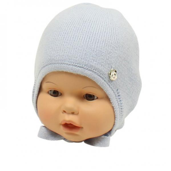 Шапка детская, голубой, Арт.21104