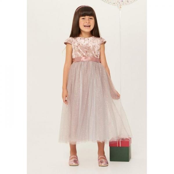 Платье детское для девочек, розовый, Vela, 921106062