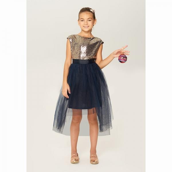 Платье детское для девочек, золотой, Ogma, 922106056