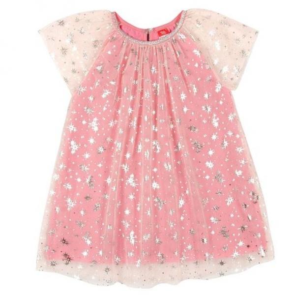"""Платье модель """"туника"""" для девочки розовый, CAKG 62713"""