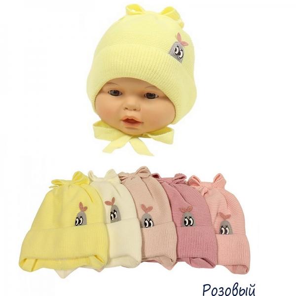 Шапка детская, розовый, Арт.21011
