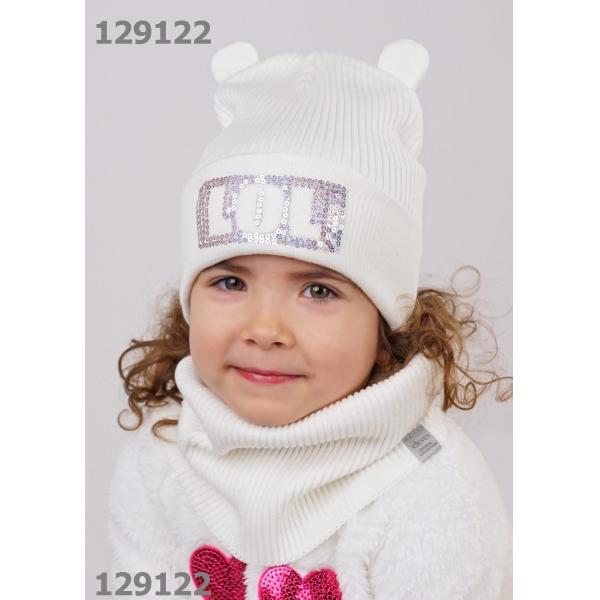 Шапка для Девочки, молочный,  813081ха