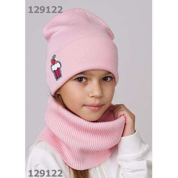 Шапка для Девочки, персиковый,  813078ха