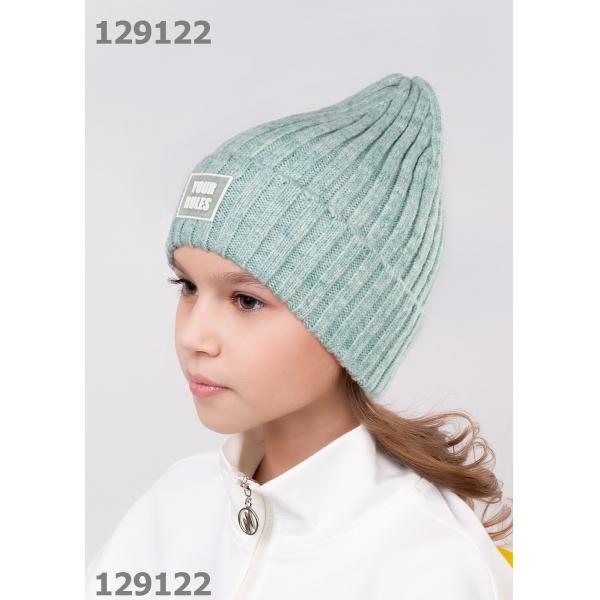 Шапка для Девочки, св.зелёный,  713114хпэ