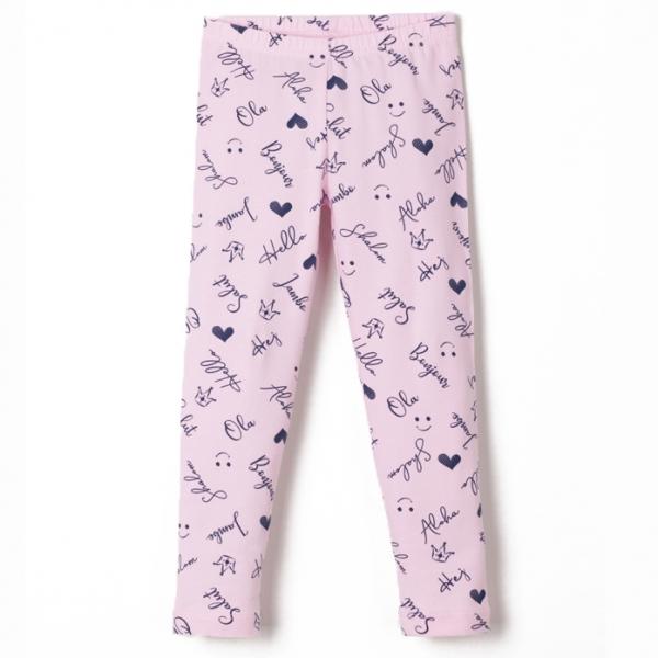 """Брюки модель """"лосины"""" для девочки, Розовый, CSKG 70001-27 (260)"""