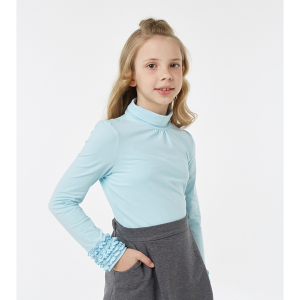 Водолазка для девочки, Голубой, 2S6-009-11811 UMKA