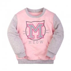 Джемпер для девочки, розовый/меланж, 15G01001П