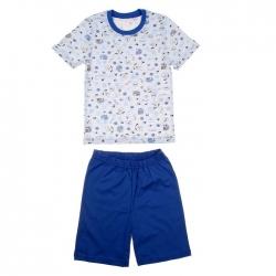 Пижама для мальчика, цвет голубой, УНЖ006001н 1870740