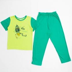 Пижама для мальчика, цвет зеленый, 10768 2818659