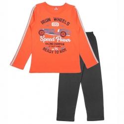Пижама для мальчика, цвет оранжевый, CAJ 5296 2847902