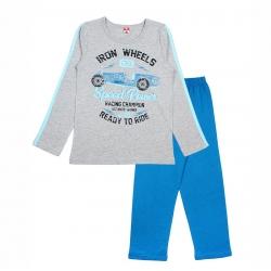 Пижама для мальчика, цвет серый меланж, CAJ 5296 2847892