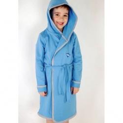Халат для мальчика, голубой, BH 67-028/01в