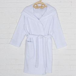 Халат махровый с капюшоном для девочки, цвет белый 09805-19 2379207