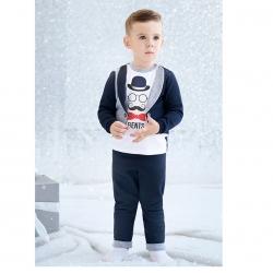 Комплект для мальчика, синий с серым меланжем, 891.047.031