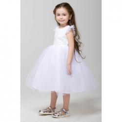 Платье для девочки, белый, 8137