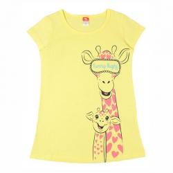"""Платье для девочки модель """"туника"""", желтый, CSK 5406"""