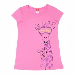 """Платье для девочки модель """"туника"""", розовый, CSK 5406"""