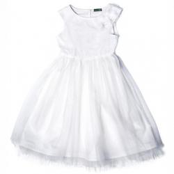 Платье для девочки, молочный, 762542ес