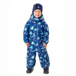 Комбинезон для мальчика, Фигурки, синий, синий