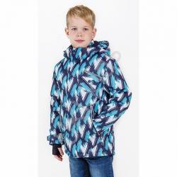 Куртка, для мальчика, синий принт, Порыв