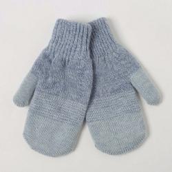 Варежки детские, двойные, Сезам, цвет голубой/голубой меланж, 2с229 2023097