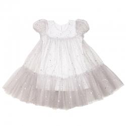 Платье для девочки, сетка+интерлок, м.69