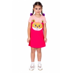 Платье, красно-розовый+лососевый, Л2452-5956