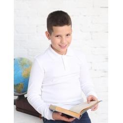 Рубашка-поло для мальчика белый, CAJ 62171
