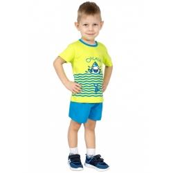 Пижама, т.бирюза+зеленое яблоко, М2270-5848