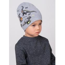 Шапка детская, 811395/4рп меланж т.серый
