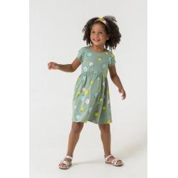 Платье для девочки, милитари,цветные шарики к1266, К5653