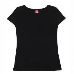 Футболка для девочки, черный, CAJ 61161