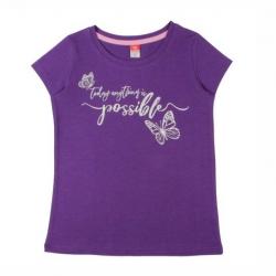 Футболка для девочки, лиловый, 62435