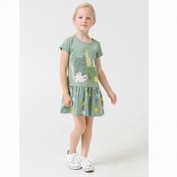 Платье для девочки, милитари,цветные шарики к1266, К5692