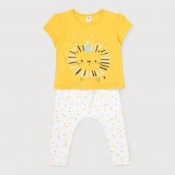 Комплект для девочки ясельного возраста, желтый+цветное конфетти на сахаре, К2641