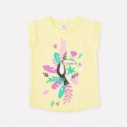 Фуфайка для девочки, светло-желтый к1260, К300946