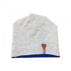 Шапка для мальчика, серо-синяя, Арт. 70223