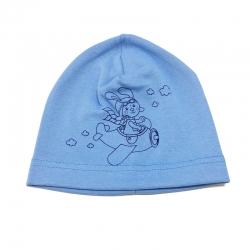 Шапка для мальчика, голубая, Арт. 7977
